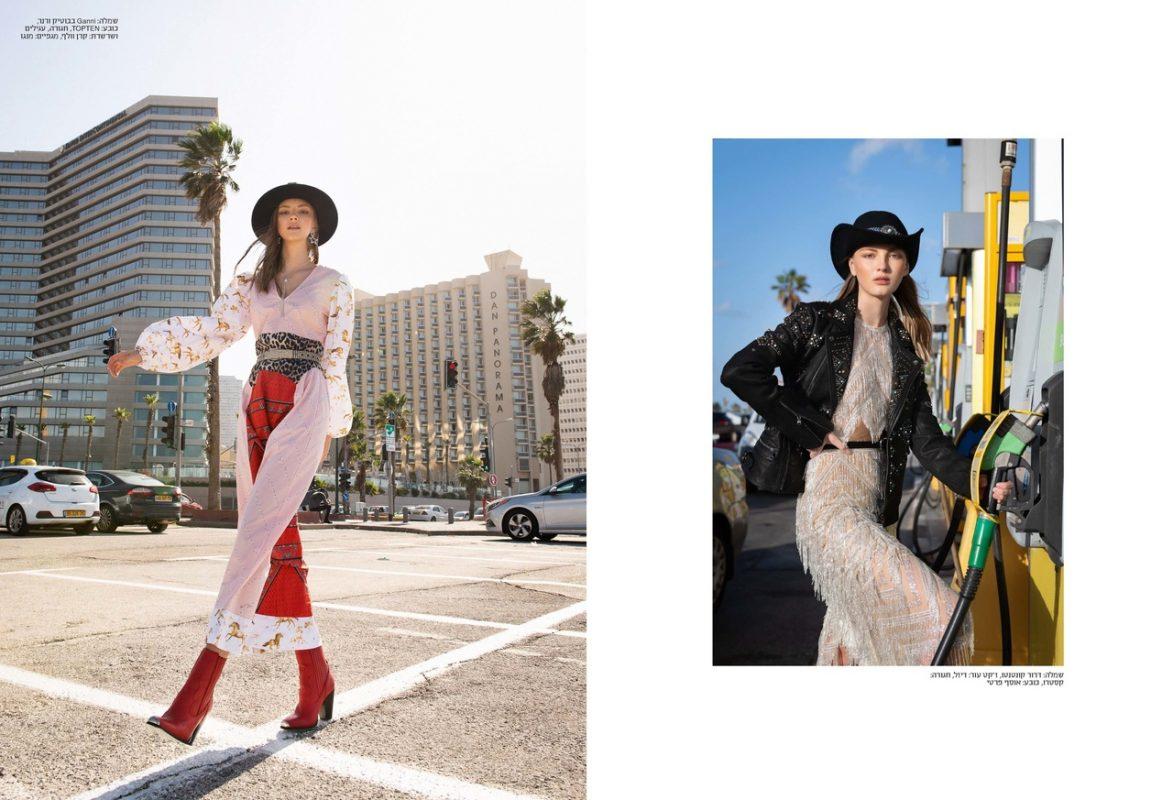 俄罗斯美女参与《GoStyle》杂志拍摄