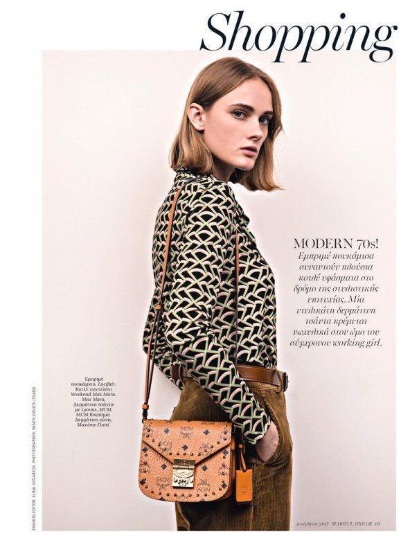 俄罗斯模特为时尚杂志拍摄广告大片